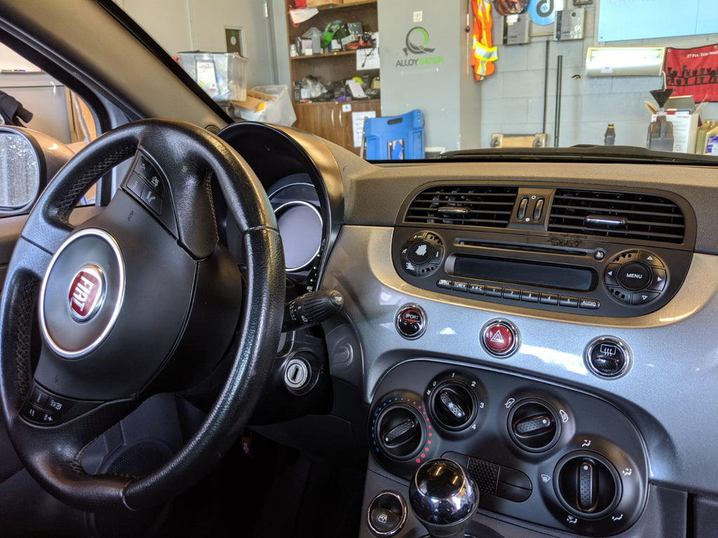 Fiat 500 factory radio defective