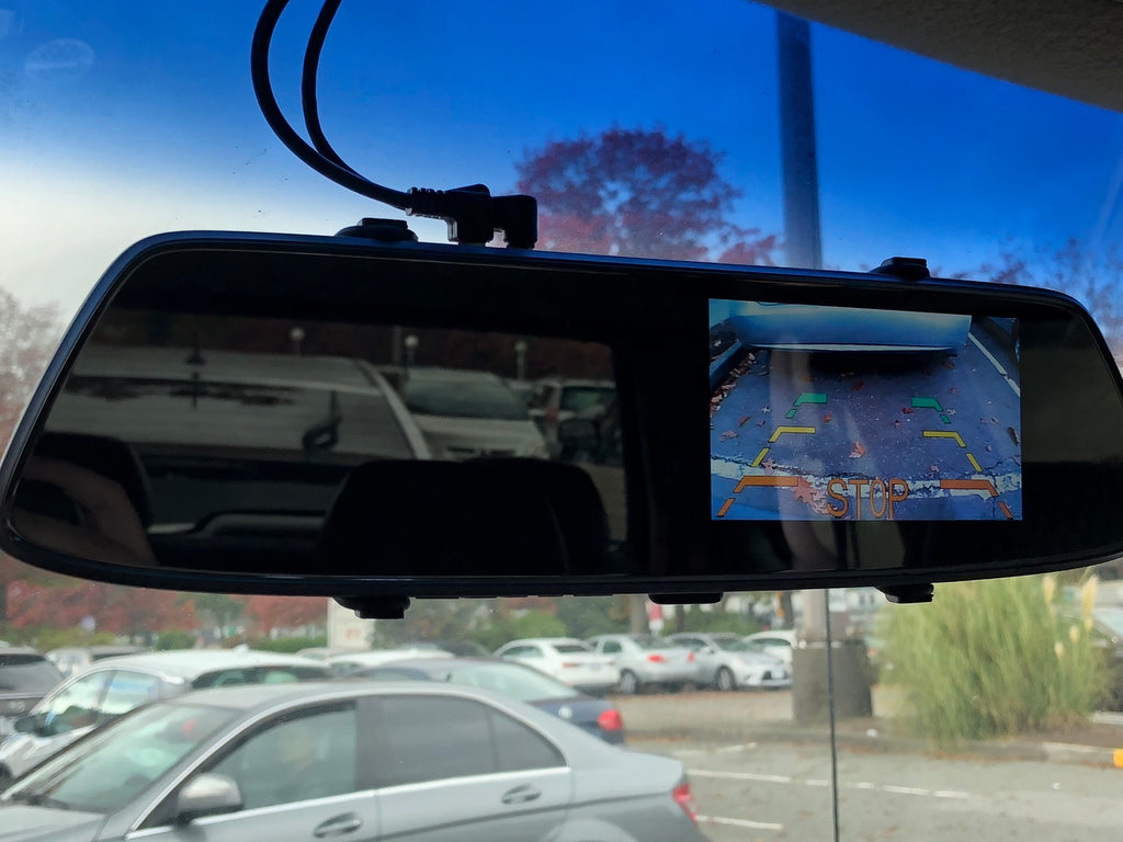 Rearview mirror backup cam caravan