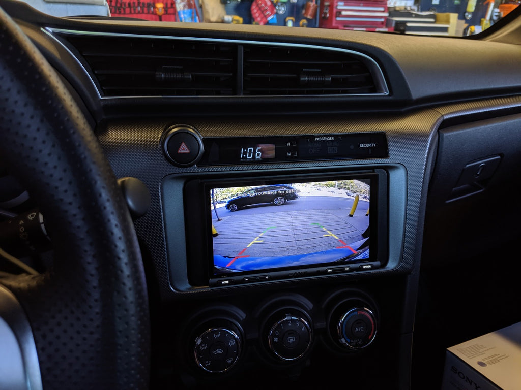Scion tC Backup camera crux