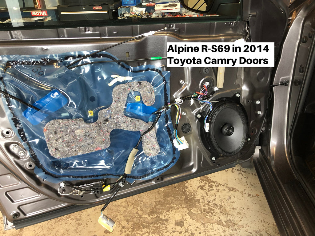 Alpine R-S69 door speakers camry