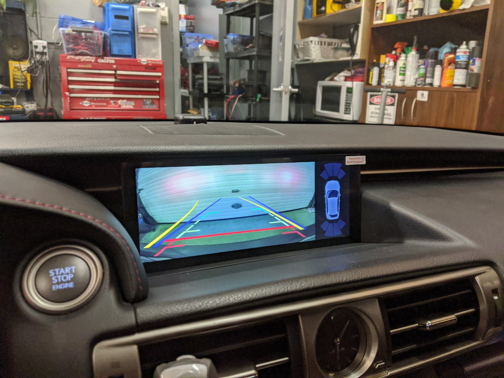 Lexus IS android 10.25 backup camera parking sensors