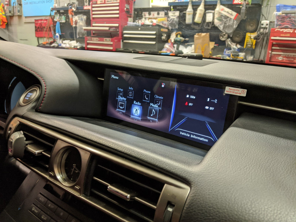 "Lexus IS factory infotainment 10.25"" screen"