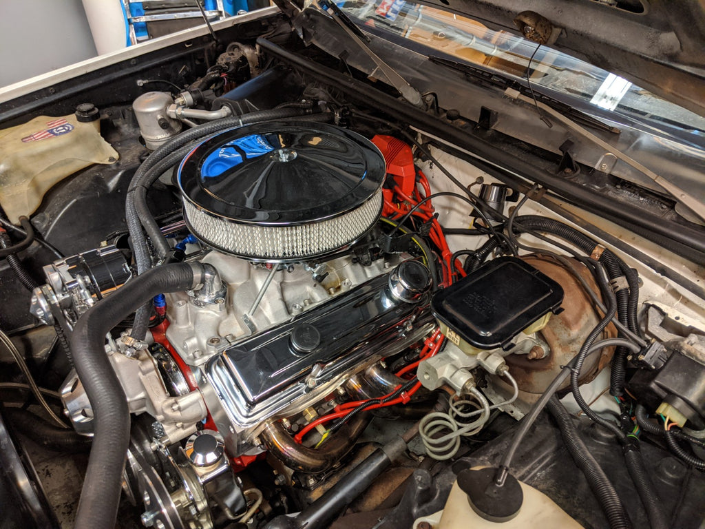 buick regal g body engine bay swap