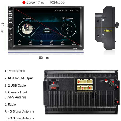 Android shallow head unit