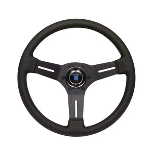 Nardi Deep Corn 330mm Black Perforated Leather and Grey Stitch Steering Wheel - Overdrive Auto Tuning, Steering Wheels auto parts