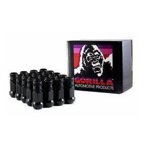 Gorilla Forged Steel Racing Black Lug Nuts - Overdrive Auto Tuning, Wheel Accessories auto parts