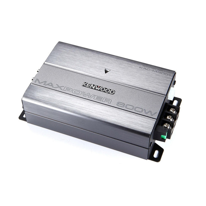 Kenwood KAC-M3001 Compact 200/300W Mono Amplifier - Overdrive Auto Tuning, Car Audio auto parts