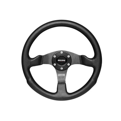MOMO Competition Black Leather Steering Wheel - Overdrive Auto Tuning, Steering Wheels auto parts