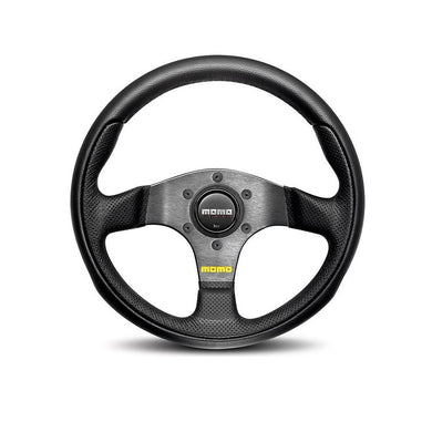 MOMO Team 300mm Black Leather Steering Wheel - Overdrive Auto Tuning, Steering Wheels auto parts