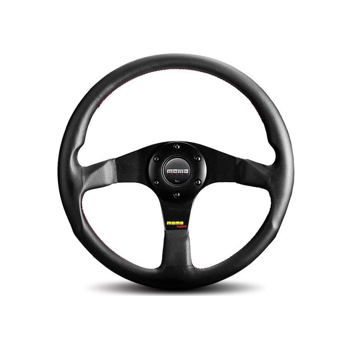 MOMO Tuner 320mm Black Leather Steering Wheel - Overdrive Auto Tuning, Steering Wheels auto parts