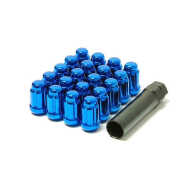 Muteki Blue Spline Drive Tuner Lug Nuts - Overdrive Auto Tuning, Wheel Accessories auto parts