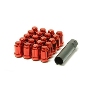 Muteki Red Spline Drive Tuner Lug Nuts - Overdrive Auto Tuning, Wheel Accessories auto parts