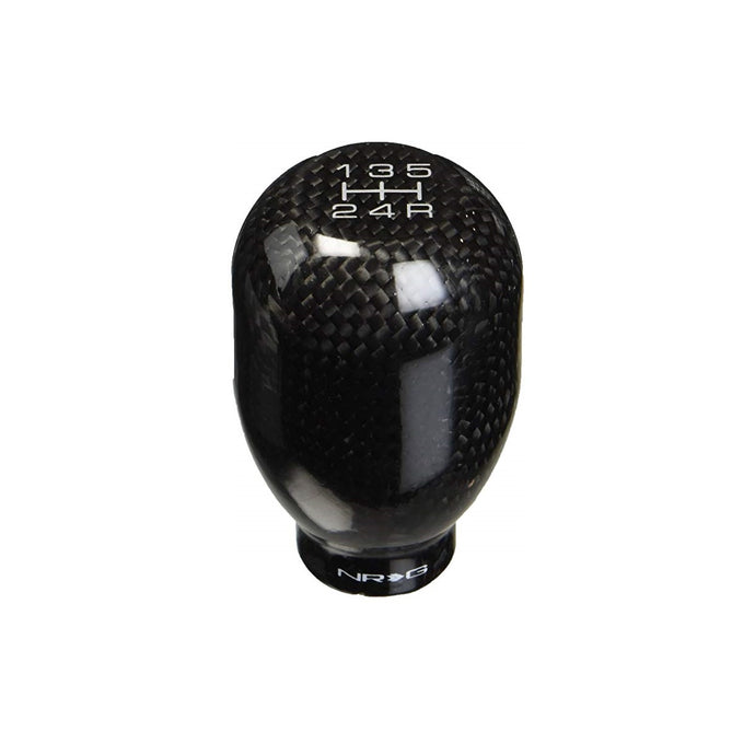 NRG SK-100BC-W Black Carbon Fiber 5 Speed Weighted Shift Knob - Overdrive Auto Tuning, Shift Knobs auto parts