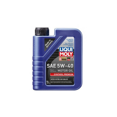 Liqui Moly Synthoil Premium 5W-40 Fully Synthetic Motor Oil - Overdrive Auto Tuning, Lubricants and Additives auto parts