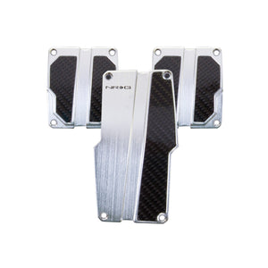 NRG PDL-100SL Brushed Aluminum Pedals - Overdrive Auto Tuning, Pedals auto parts