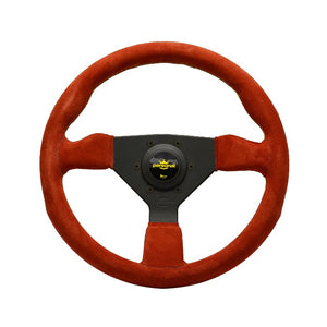 Personal Grinta 330mm Red Suede Yellow Stitch Steering Wheel - Overdrive Auto Tuning, Steering Wheels auto parts