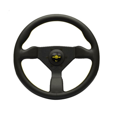 Personal Grinta 330mm Black Leather Yellow Stitch Steering Wheel - Overdrive Auto Tuning, Steering Wheels auto parts