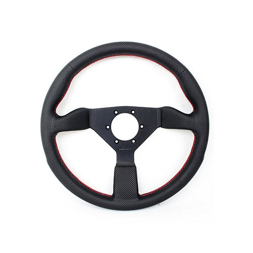 Personal Neo Grinta 350mm Perforated Leather Red Stitch Steering Wheel - Overdrive Auto Tuning, Steering Wheels auto parts