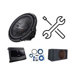 "Pioneer/Kenwood Amplifier + 12"" Subwoofer Installation Special - Overdrive Auto Tuning, Car Audio auto parts"