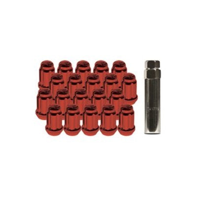 RTX Red Spline Drive Tuner Lug Nuts (Set of 20) - Overdrive Auto Tuning, Wheel Accessories auto parts