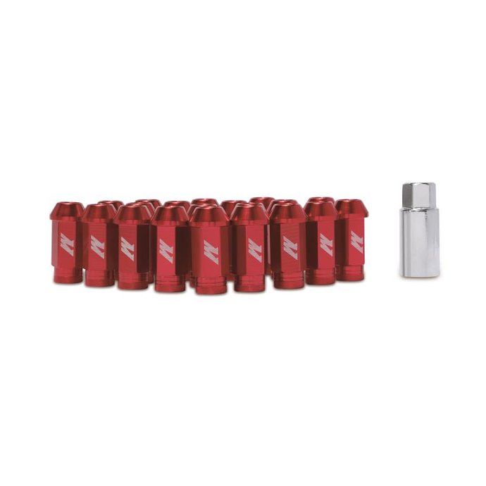 Mishimoto Aluminum Red Locking Lug Nuts - Overdrive Auto Tuning, Wheel Accessories auto parts
