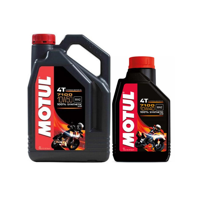 Motul 7100 Series Ester 4T Motorcycle Oil - Overdrive Auto Tuning, Lubricants and Additives auto parts