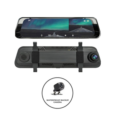 RDTK R20X Pro Duo Mirror Dash Cam + Backup Camera - Overdrive Auto Tuning, Dash Cam auto parts
