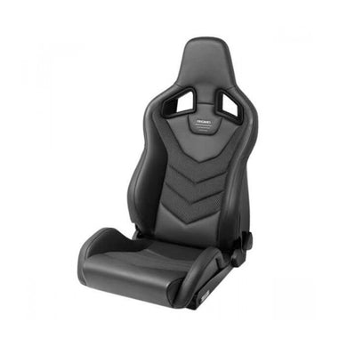 RECARO Sportster GT Reclinable Sport Seat (Black Leather/Carbon)