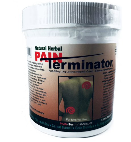 PAIN Terminator Analgesic Cream 500g Jar