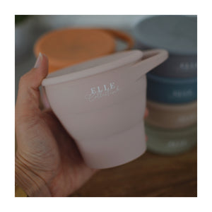 Collapsible Snack Cup (With Lid)