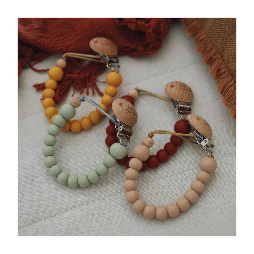 Silicone Dummy Clip - Earthy Colours