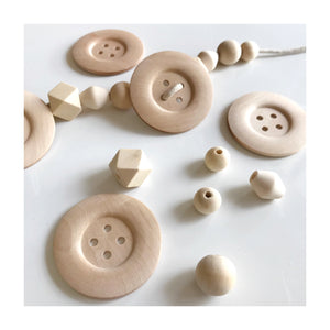 Wooden Lacing Buttons