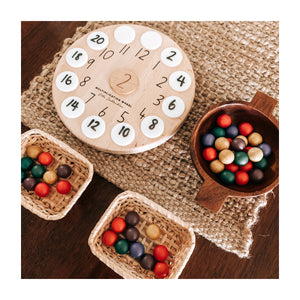 Wooden Multiplication Wheel