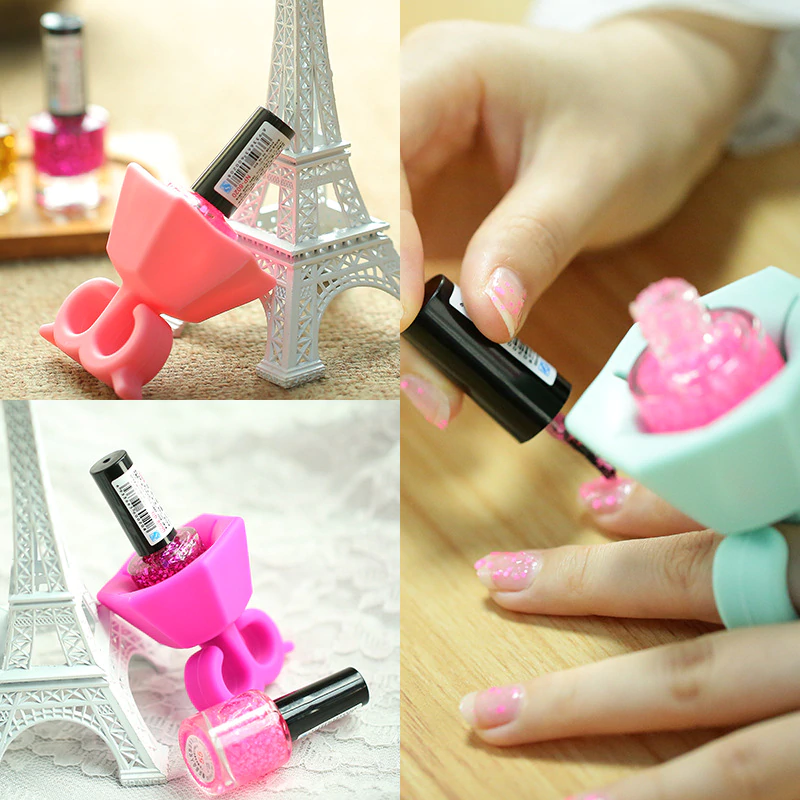 Nail Polish Bottle Holder Ring - NailCareHub