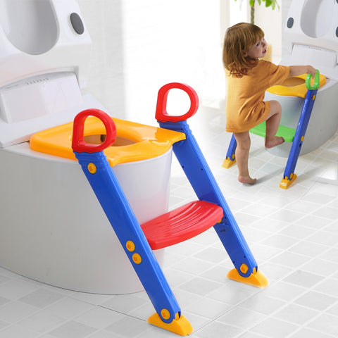 KIDS POTTY TRAINING SEAT WITH STEP STOOL LADDER
