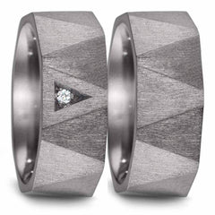 Teno Eheringe Tantal Diamant 0,02 ct