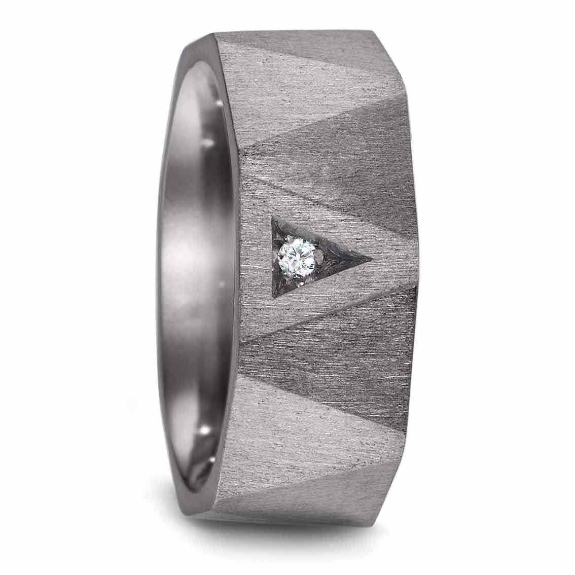 Teno Eheringe Tantal Diamant 0,02 ct - My Fine Jewellery