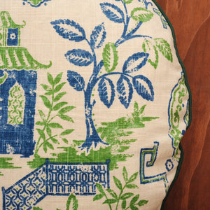 Green Tea-house Linen Cushion