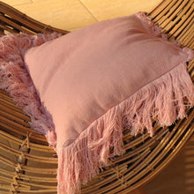 Shell Pink Boho Luxe Cushion