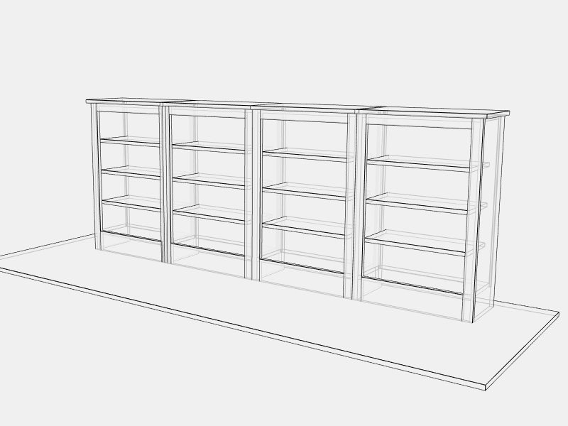 Low Quad Bookcase