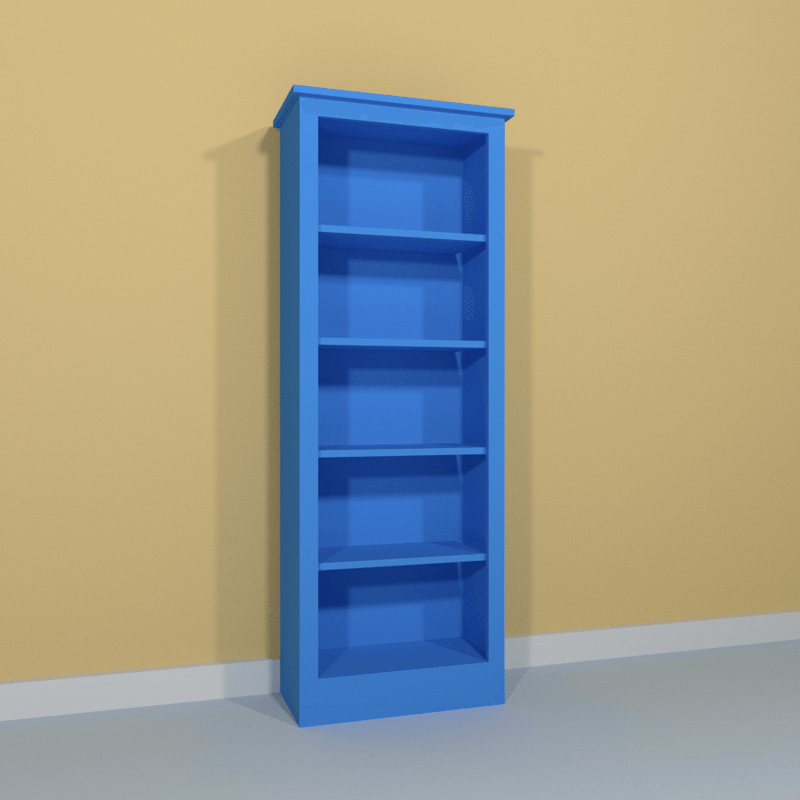 Mid Single Bookcase