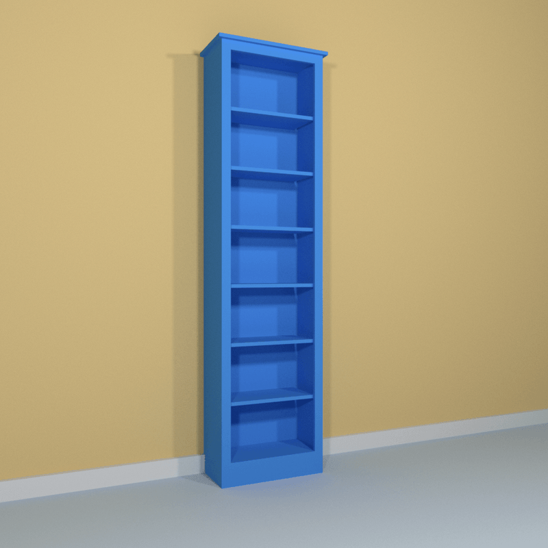 Tall Single Bookcase