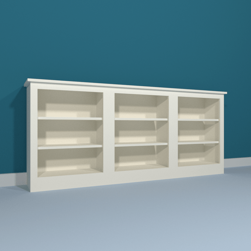 Low Triple Bookcase