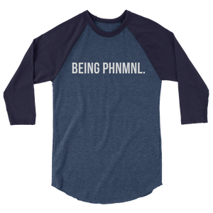 Being PHNMNL 3/4 sleeve raglan shirt