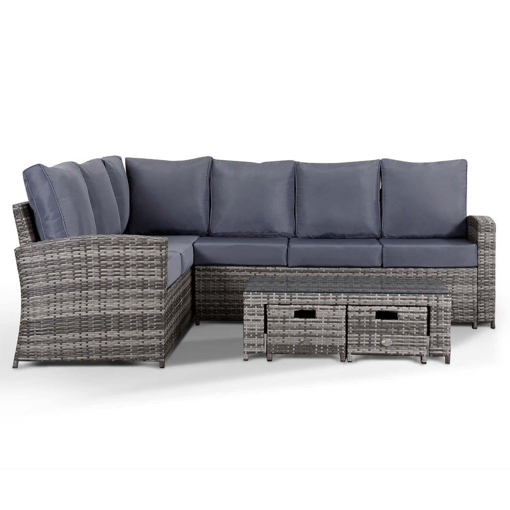 Harmony Corner Sofa With Coffee Table And 2 Stools In