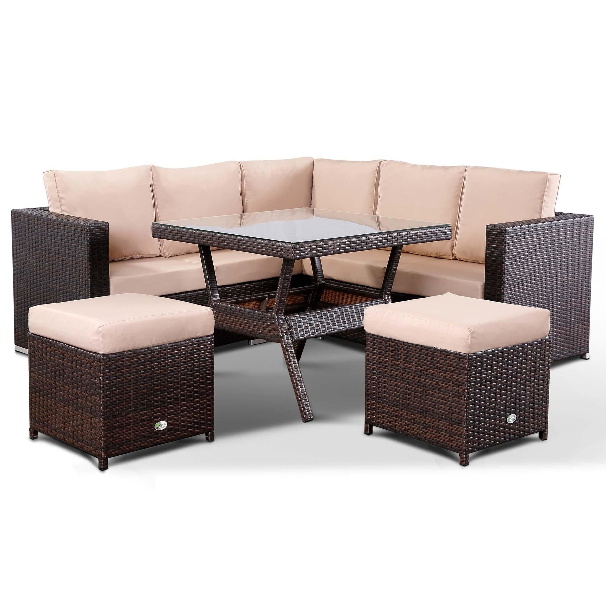 Incredible Lille Corner Sofa With Dining Table And 2 Stools In Small Interior Design Ideas Gentotthenellocom