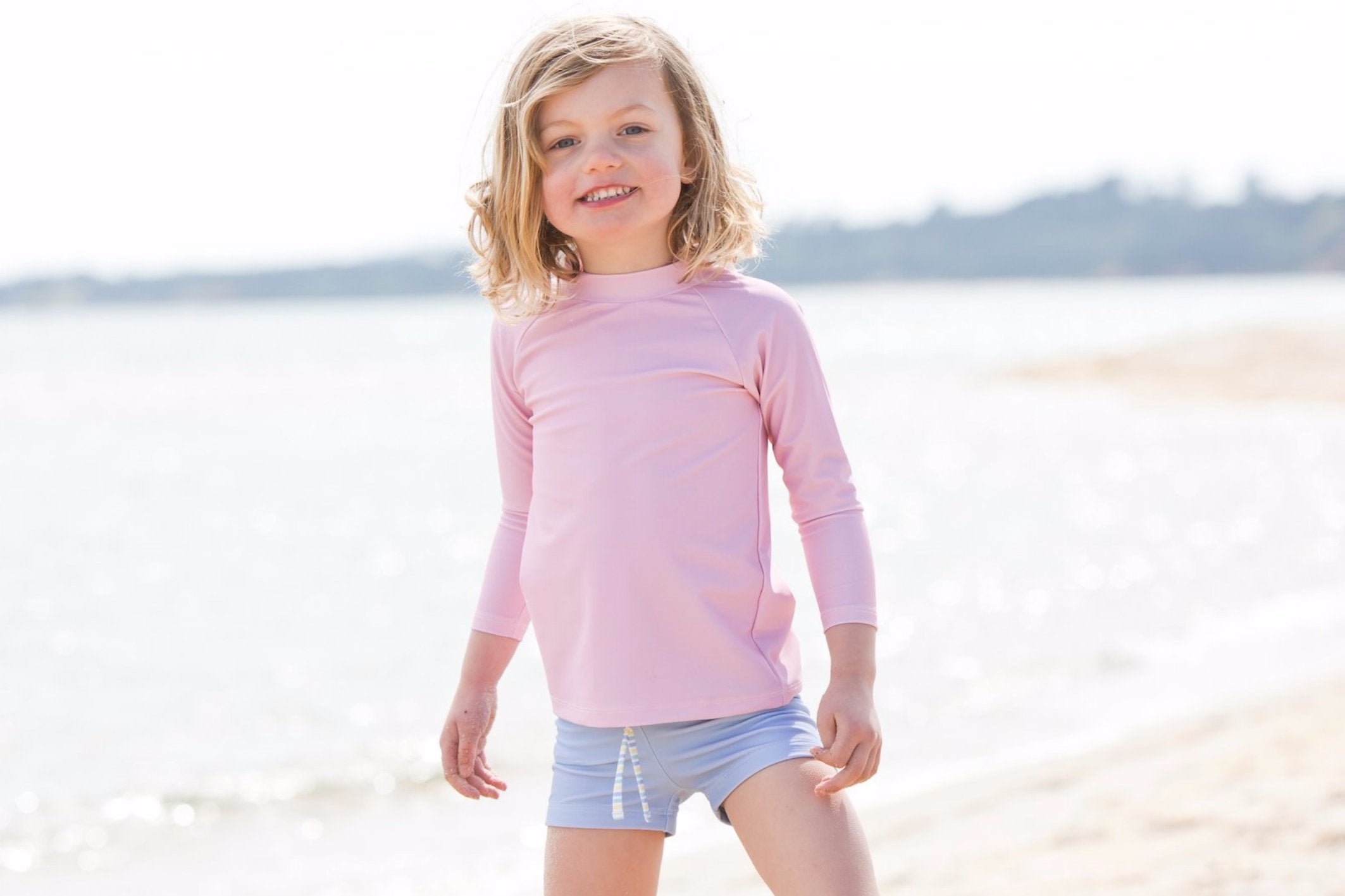 harry & pop original rashguard in palm cove pink | rashie | rashvest
