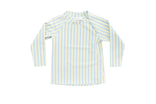 harry & pop original rashguard in bondi blue stripe | rashie | rashvest