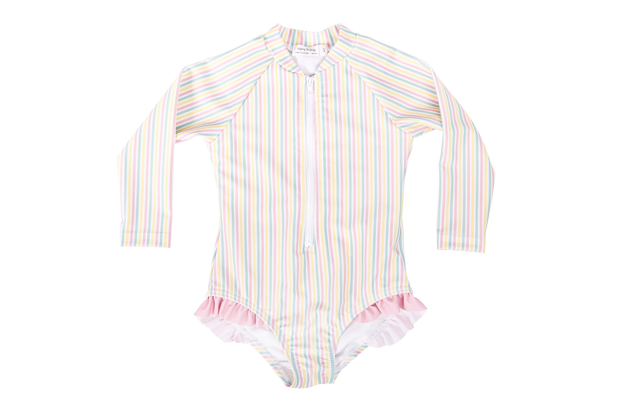 portsea pink stripe surf suit