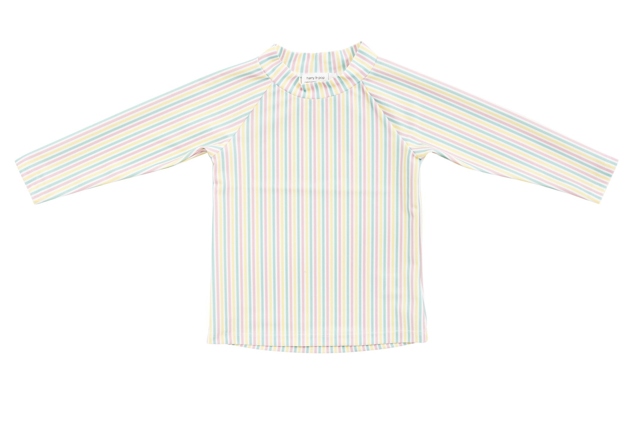 harry & pop original rashguard in portsea pink stripe | rashie | rashvest
